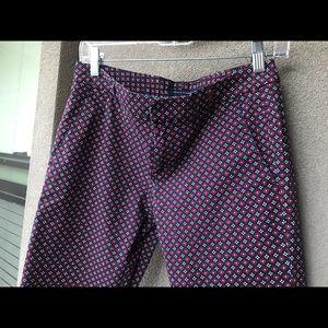 Tommy Hilfiger Patterned Pants Blue Burgundy 4